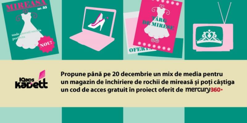 Concurs IQads Kadett pentru burse in proiect oferite de agentia-partener Mercury360