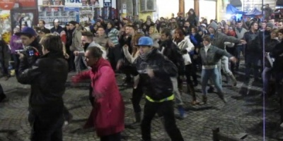 Flashmob J&B - City Remix in Bucuresti