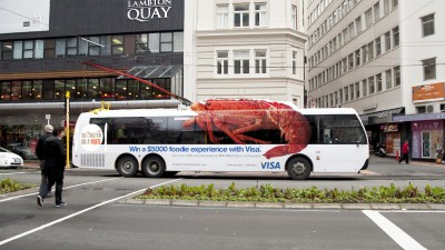 VISA, Wellington On a Plate Culinary Festival - Giant Lobster Bus