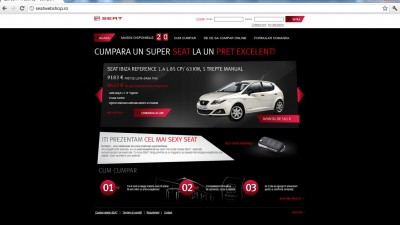 Website: SEAT - seatwebshop.ro