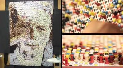 Ogilvy Chicago - David Ogilvy Push Pin Portrait