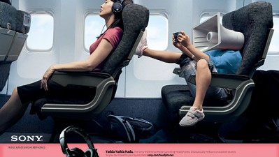 Sony noise cancelling headphones - Airplane