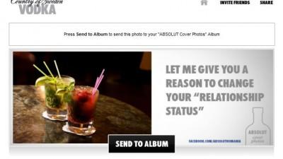 Aplicatie de Facebook: ABSOLUT VODKA - Absolut Cocktail Cover Photos