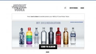 Aplicatie de Facebook: ABSOLUT VODKA - Absolut Cover Photos