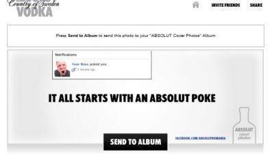 Aplicatie de Facebook: ABSOLUT VODKA - Absolut Cover Photos (jokes)