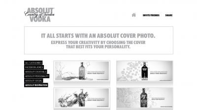 Aplicatie de Facebook: ABSOLUT VODKA - Absolut Inspiration Cover Photos (1)