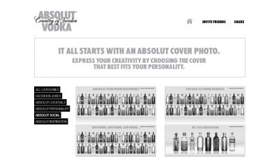 Aplicatie de Facebook: ABSOLUT VODKA - Absolut Social Cover Photos