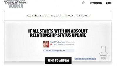 Aplicatie de Facebook: ABSOLUT VODKA - Absolut Social Cover Photos (relationship status)