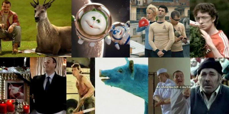 La o sueta cu Dorel, Porcul de la MTV, Porcul de la Antrefrig, Filip de la Fuborg, Nebunul de la ALTEX, Piticarul de la Saftica, Do si Mo, Cerbul de la Ciucas, Zanul de la BT si Paul Maximus
