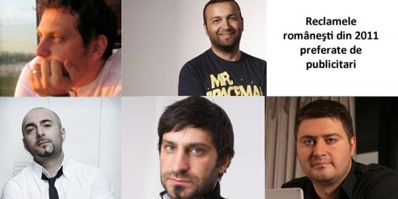 Sorin Tranca, Bogdan Gheorghiu, Razvan Capanescu, Mihai Gongu, Vasile Alboiu despre ad-urile romanesti preferate in 2011