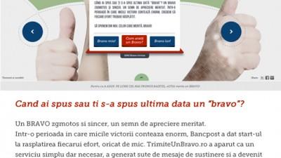 Trimite un bravo - site (case-study BestAds)