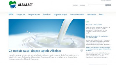Website: Albalact - Homepage