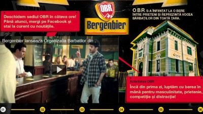 Website: Bergenbier - Organizatia Barbatilor din Romania, 1