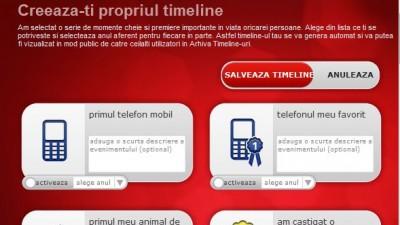 Aplicatie Facebook Vodafone - 15 ani impreuna - creeaza propriul timeline