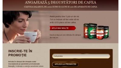 Facebook Tab: Doncafe - Degustator de cafea