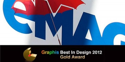 Gold Graphis Best in Design 2012 pentru logoul polimorfic eMAG creat de Brandient