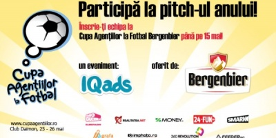 Start la inscrieri pentru a V-a editie a Cupei Agentiilor la Fotbal Bergenbier
