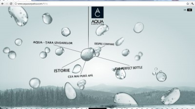 Website aquacarpatica.ro - Homepage