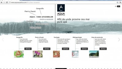 Website aquacarpatica.ro - Tara Izvoarelor