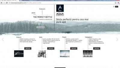 Website aquacarpatica.ro - The Perfect Bottle