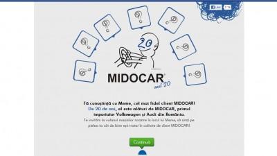 Aplicatie de Facebook: Midocar - Vreau in locul lui Meme
