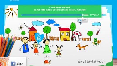 Aplicatie de Facebook: SOS Satele copiilor - Doneaza, 2