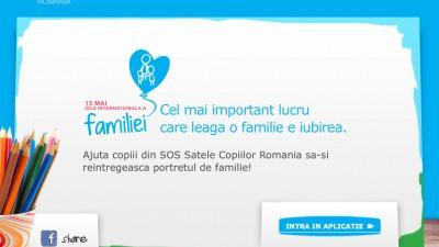 Aplicatie de Facebook: SOS Satele copiilor - Home