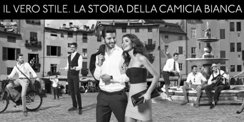 "Noua campanie Bigotti dezvoltata de Violet transforma camasa alba in echivalentul masculin al ""little black dress"""