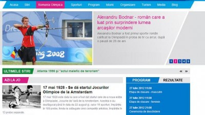 Website: Antena 3 - JO2012