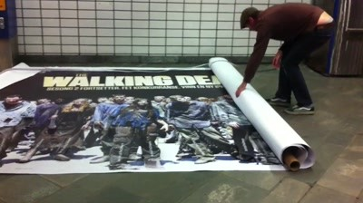 Fox Crime, The Walking Dead - Life-size tear-off poster