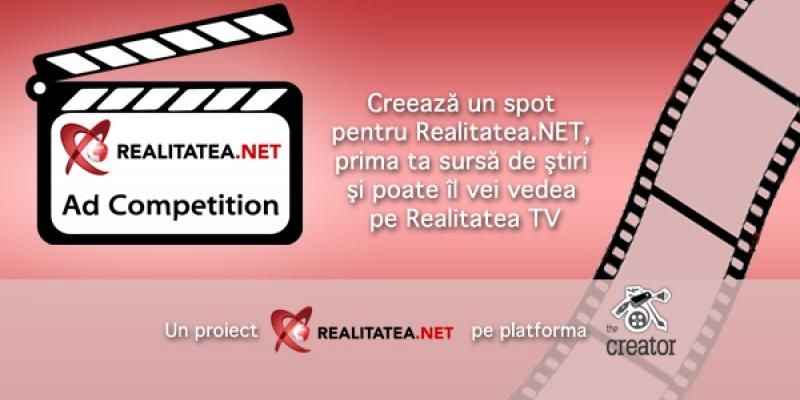 Creeaza spotul TV al Realitatea.NET prin intermediul competitiei Realitatea.NET Ad Competition