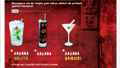 "Aplicatie Facebook - ""Havana - Cocktails"""