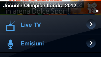 Aplicatie mobile: Dolce Mobile TV, powered by COSMOTE - 2