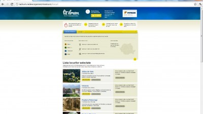 Aplicatie web: Petrom - La Drum Filtrul Natura