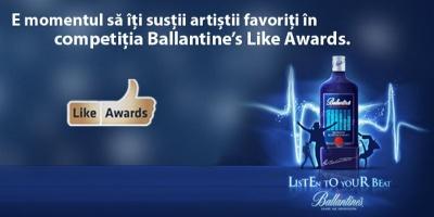 Cei mai buni artisti romani, la vot in aplicatia Ballantine's Like Awards