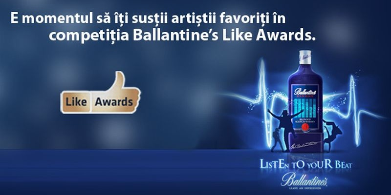 Cei mai buni artisti romani, la vot in aplicatia Ballantine's Like Awards