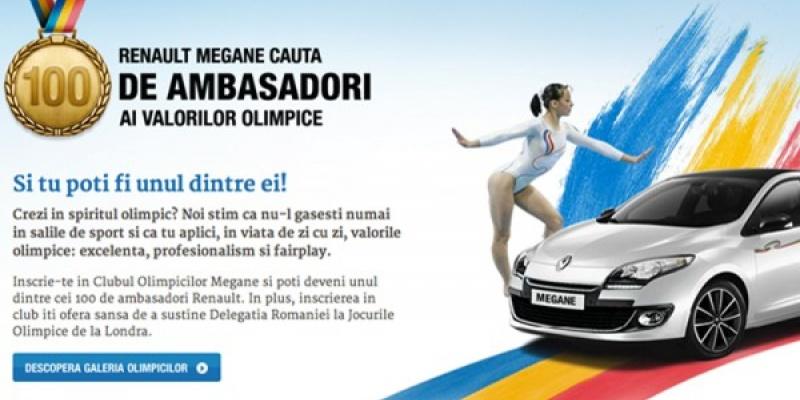Platforma megane-olympic.ro ofera ocazia membrilor publicului sa devina ambasadori ai valorilor olimpice
