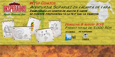 A inceput competitia creativa de benzi desenate Desperados Wild Comics