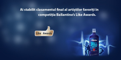 In cadrul Ballantine's Like Awards au fost votati cei mai buni artisti romani ai momentului