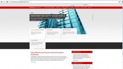 Website: enterprise.bitdefender.com - Homepage