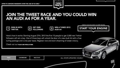 Audi - Tweet Race