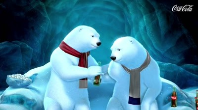 Coca-Cola - Polar Bears watching Super Bowl: Game Over
