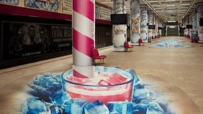 Jacobs - Anamorphic image KV 1 @ Unirii subway station