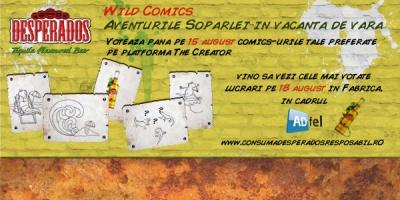Cele mai bune lucrari din competitia Desperados Wild Comics vor fi prezentate sambata la ADfel