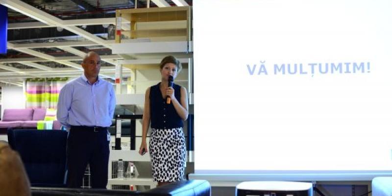 Mihaela Muresan si Cornel Oprisan despre bugetul de marketing IKEA, stocul de produse, procentul produselor fabricate in Romania si noutatile aduse de noul catalog IKEA 2013