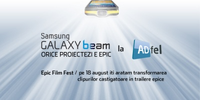 Sambata la ADfel proiectam superproductiile Epic Film Fest powered by Samsung Galaxy Beam