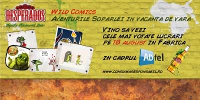 Cele mai bune lucrari din competitia Desperados Wild Comics, prezentate maine la ADfel