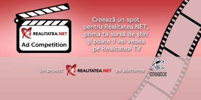 Mai aveti aproape 2 saptamani sa creati un spot TV pentru Realitatea.NET