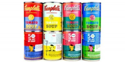 "Tribut Andy Warhol la aniversarea de 50 de ani a lucrarii ""32 Campbell's Soup Cans"""