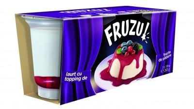 Fruzu - Iaurt cu topping de fructe de padure